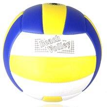 a42920db9d 1 Pcs Treinamento Indoor Não Inflável Vôlei Tamanho 5 Espessamento Macia PU  Couro Partida de Voleibol de Praia Jogo