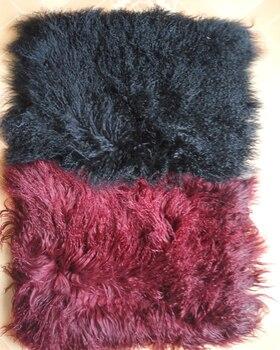 אמיתי מקורית 2016 משלוח חינם שחור ואדום מונגולי ספה לזרוק כרית טיבט טיבטי כבש הפרווה כיסוי כיסא