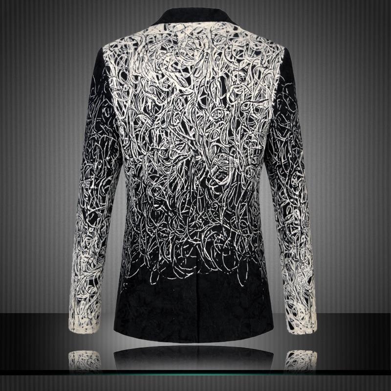4547c7074caf Men Fashion Blazer 2017 New Arrival Elegant Jacket Men Black   White  Designer Mens Slim Fit Blazer High Quality Mens Blazers 6xl-in Blazers from  Men s ...