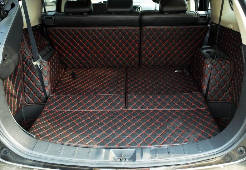 Хорошее качество! Специальные коврики багажника для Mitsubishi Outlander 7 мест 2017 2013 водонепроницаемый задний грузовой лайнер ковры, бесплатная дос
