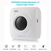 Mini Photo Picture and Portable Thermal Bluetooth Printer For Android IOS Mobile Phone