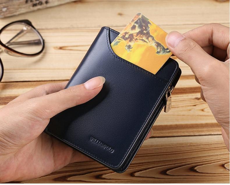 suporte de cartão dos homens curto carteira