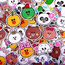 112pcs creative cute self made animal beer rabbit panda scrapbooking stickers decorative sticker DIY craft photo