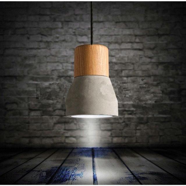 Cimento madeira Restaurante Lâmpada Sala de Jantar Salão de Café Do Vintage Pendente de teto Laparas Nórdicos Minimalista Retro Pendant Light
