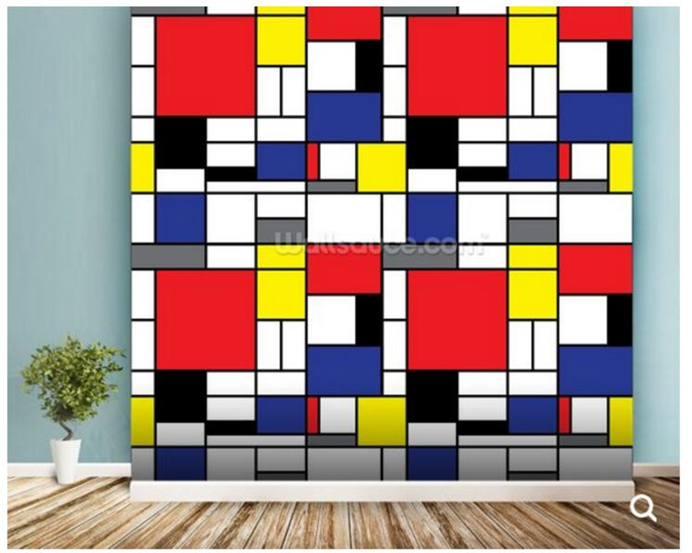 Custom abstract wallpaper,Mondrian,art mural used in the living room office sofa background wall Home decoration wallpaper free shipping around the world art environmental children s room wallpaper super large mural baby room custom size