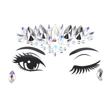 2019 New Fashion DIY Eyebrow Face Body Art Adhesive Crystal Glitter Jewels Festival Party Eye Tattoo Stickers Night Club Makeup