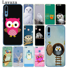 Lavaza lovely cute owl Pink Funny Phone Case for Huawei Y6 Prime Y5 II 2018 Y7 2017 Honor play 10 9i 8 8X 9 Lite 7C 7X 7A Pro(China)