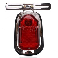 Motorcycle ATV Quad Cross LED Turn Signal Rear Tail Brake License Plate Light Red Taillight For