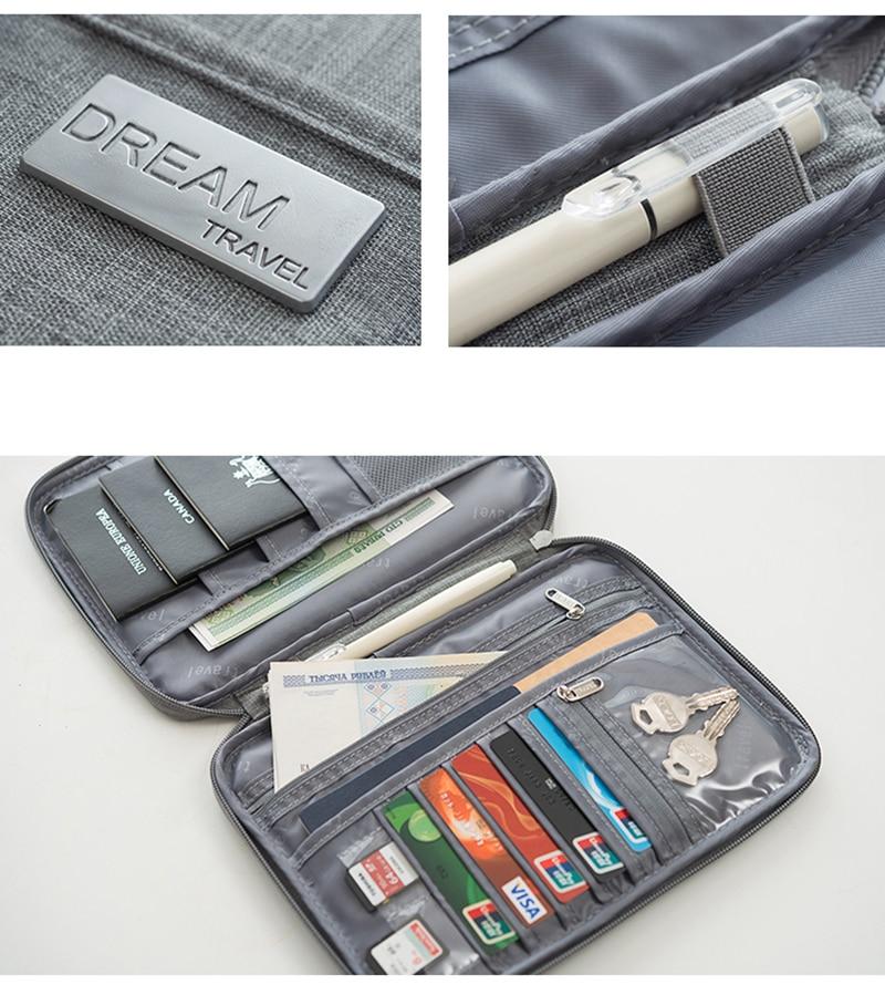 Hot Travel Wallet Family Passport Holder Creative Waterproof Document Case Organizer Travel accessories Document Bag Cardholder