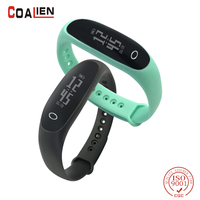 Wristband Smart Bracelet IP67 Screen Touchpad Pulse Heart Rate Blood Pressure Step Time Date Incoming Call
