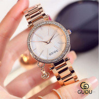 GUOU Women S Watches Simple Wind Steel Ladies Watches Temperament Retro Leisure Fashion Ladies Watches Time