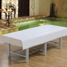120*195cm stripe beauty salon sheets 100% Cotton SPA Massage Beauty Bed Table Cover Sheets With holes Salon Dedicated