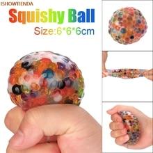 Σφουγγαράκι μπάλα μπάλα ουράνιο τόξο συμπιεσμένο άγχος Squishy παιχνίδι άγχος μπάλα για δώρα διασκέδασης ανακούφισης ανακούφισης άγχος Squishy παιχνίδι Hot