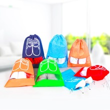 10 pcs shoes dust cover Home Folding Shoes Organisation waterproof Non-Woven Travel Portable Tote Drawstring Bag Cover Case