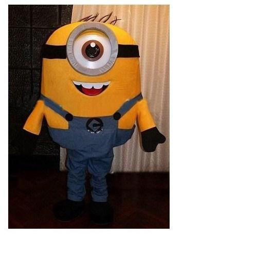 Un oeil méprisable moi Minion mascotte costume costumes de fête fantaisie animal personnage mascotte robe parc d'attractions tenue