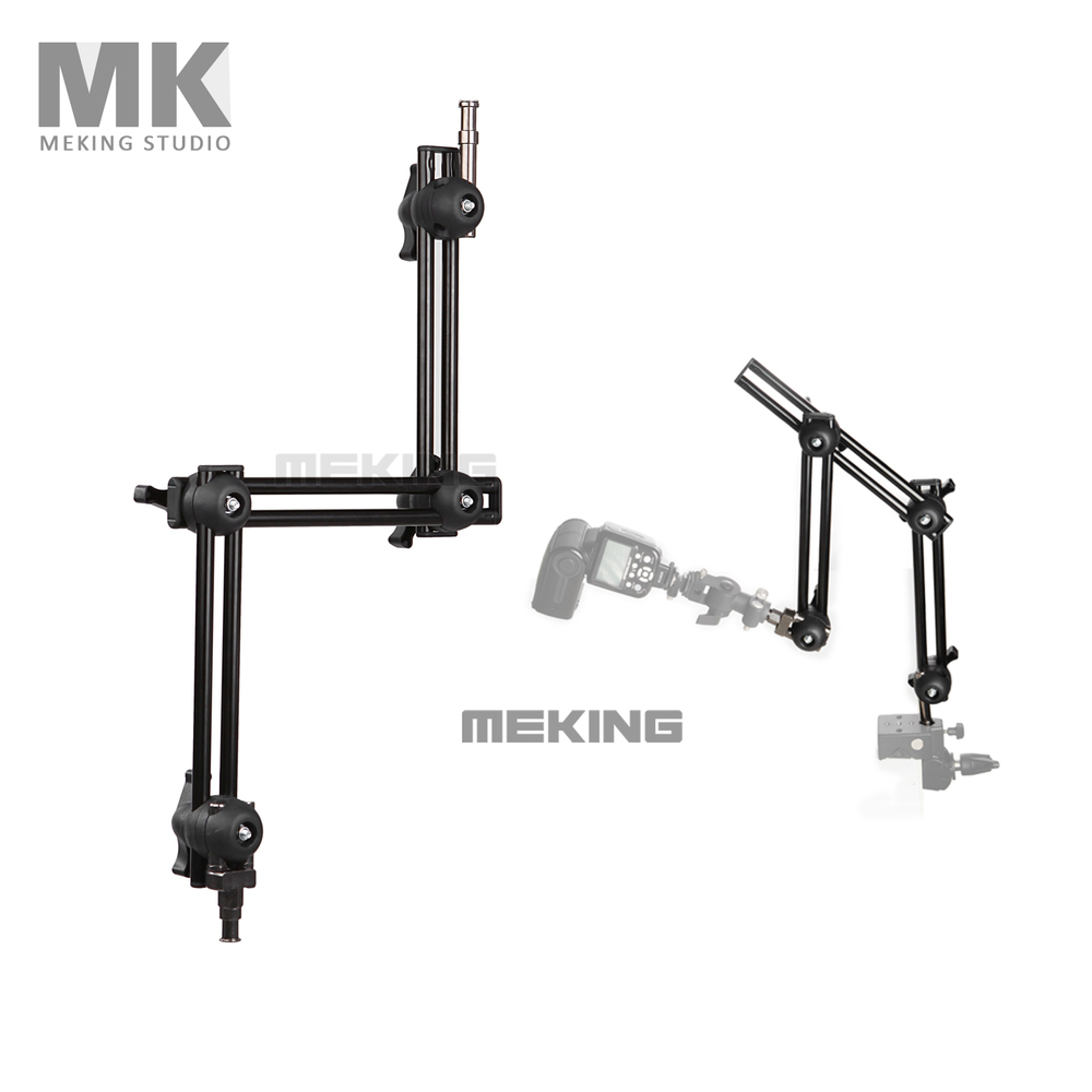 Selens Photo Studio M11 099 three section adjustable holder Articulated Arm sliding extension system light stand accessorires