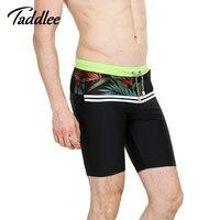 Taddlee ספורט בגד ים בגדי ים בוקסר Mens גברים גבר מותג 2016 גברים חדשים הומוסקסואלי הפין פאוץ Surf Boardshorts בגדי ים