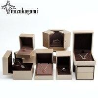 1 개 골드 봉제 슈퍼 섬유 특수 종이 보석 상자 팔찌 반지 목걸이 펜던트 상자 보석 선물 상자
