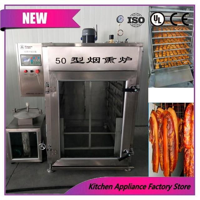 Rumah Asap Asap Oven 50 Kg Kapasitas Daging Daging Sosis Asap Oven