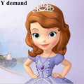 Pelucas Hot sell ! Popular style Princess Sofia Long Wavy Cosplay Wig Super Cos Wig Good Quality Perucas femininas