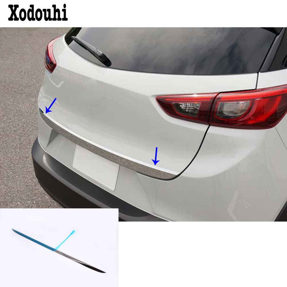 For <font><b>Mazda</b></font> CX-3 <font><b>CX3</b></font> 2017 2018 <font><b>2019</b></font> 2020 Car Cover Styling Body Rear Door Tailgate Bumper Frame Plate Trim Lamp Trunk Lid 1pcs image
