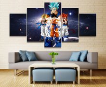 DRAGON BALL Ultra Instinct animation 5 Piece HD Print Wall Art Canvas For Living Room Decor Painting