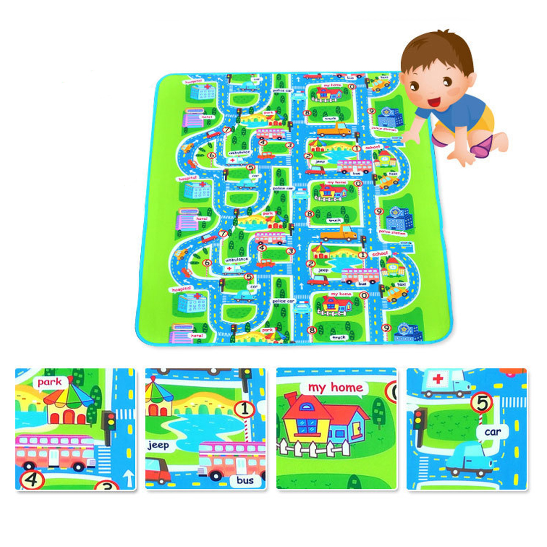 Baby mat City Road Carpets For Children Play Mat For Children Carpet Baby Toys Rugs Developing Play Puzzle Foam mats