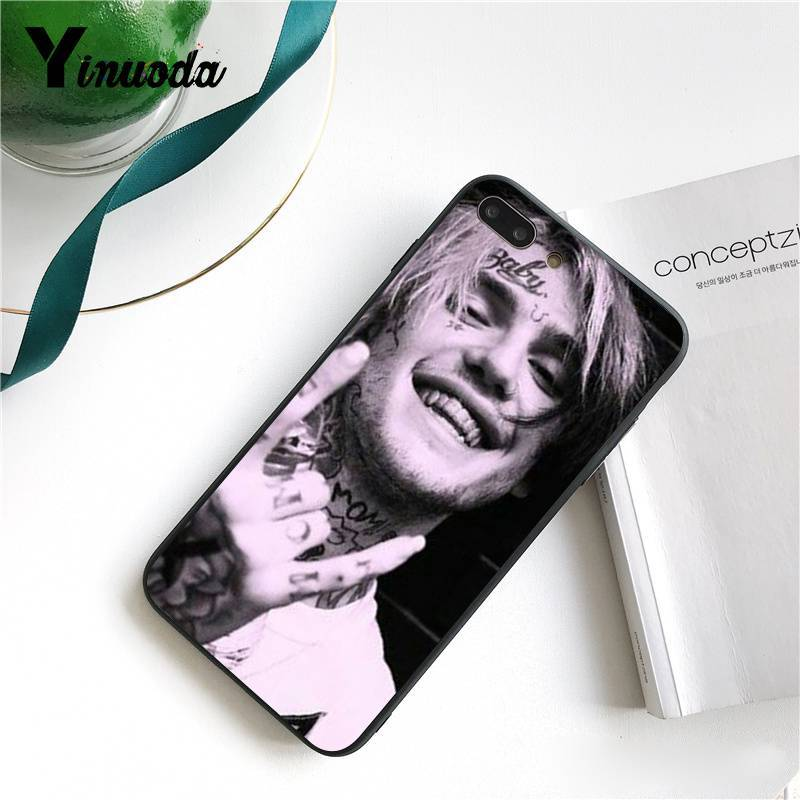 Yinuoda Lil Peep Lil Bo Peep Soft Silicone TPU Phone Cover for iPhone 8 7 6 6S 6Plus X XS MAX 5 5S SE XR 10 Cover
