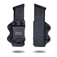 B.B.F MAKE CHO IWB/OWB KYDEX Bao Da Súng Trường Hợp Tạp Chí Phù Hợp Với Glock 17/Glock 19/Glock 26/ 23/27/31/32/33 Pistol Tạp Chí Pouch