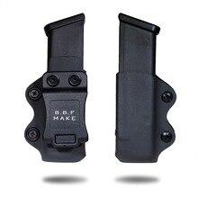 B.B.F MAKE IWB/OWB Caso Se Encaixa Glock KYDEX Holster Revista Arma 17/Glock 19/Glock 26/ 23/27/31/32/33 Pistol Revista Pouch
