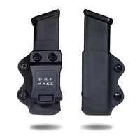 B.B.F MAKE IWB/OWB KYDEX Holster Gun Magazine Case Fits Glock 17/Glock 19/Glock 26/23/27/31/32/33 Pistol Magazine Pouch