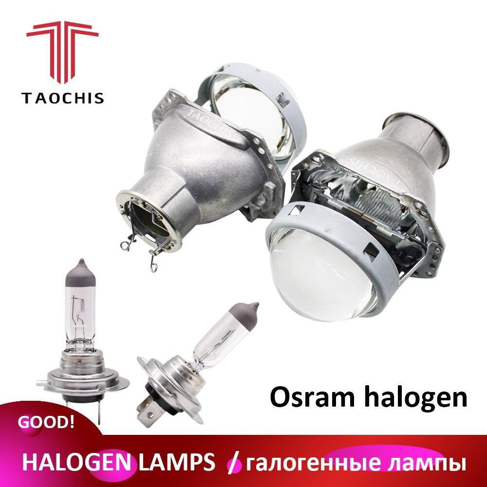TAOCHIS 3.0 inches Head light retrofit HELLA 3R G5 bi xenon projector lens Using H7 Halogen Projector Xenon LED lamps