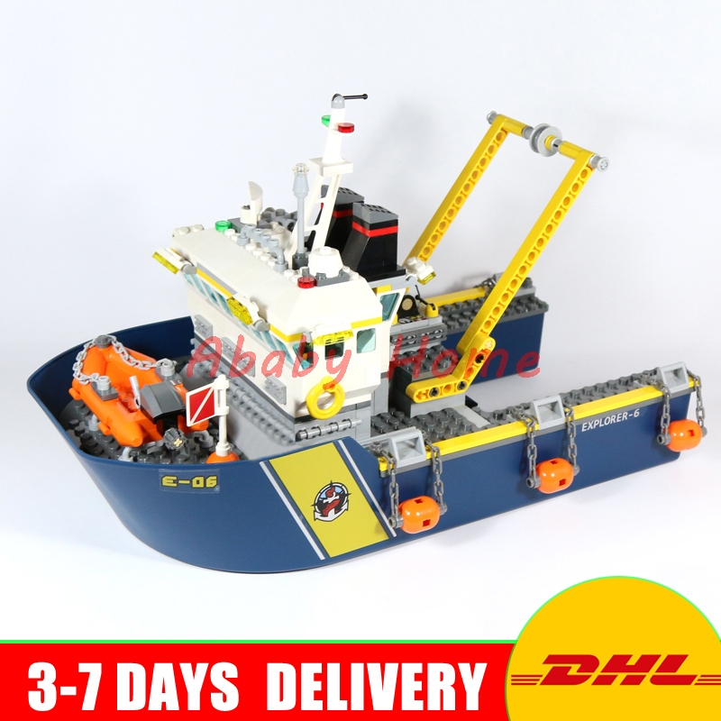 DHL Lepin 02012 City Series Deep Sea Exploration Vessel Children Education Building Blocks Bricks Toys Model Gifts Clone 60095 in stock lepin 02012 774pcs city series deepwater exploration vessel children educational building blocks bricks toys model gift