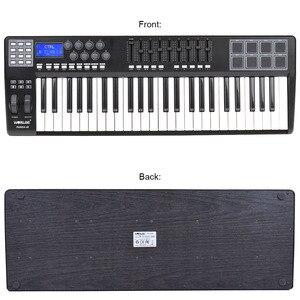 Image 2 - PANDA49 clavier pour contrôleur MIDI, 49 touches, 8 tambours, avec câble USB, blanc, rétroéclairage RGB