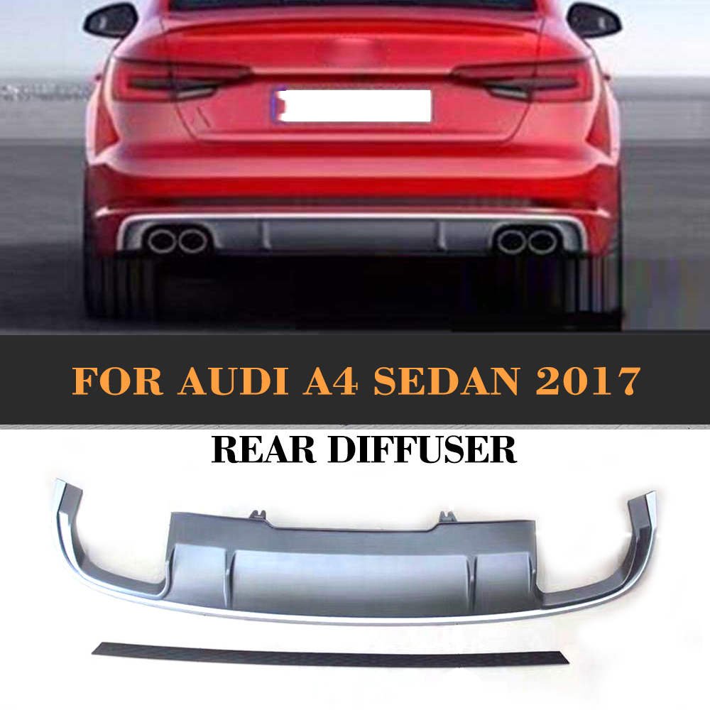 PP Rear Bumper Lip Diffuser for Audi A4 B9 Standard Bumper 2014 2015 2016 S4 Style wireless av sender and receiver pat 350 2 4g 250m wireless a v audio video sender transmitter and receiver with eu us uk au plug