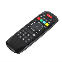 2.4G Wireless Air Mouse IR Learning Back 42 Keys Keyboard TV Control Fly Mouse Micro USB Rechargeable for Laptop HTPC