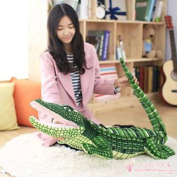 large 160cm simulation crocodile soft plush toy sleeping pillow toy birthday gift h976