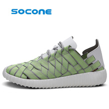 SOCONE sports shoes man breathable light Tennis shoes women's quick-drying light weight yeezy shoes