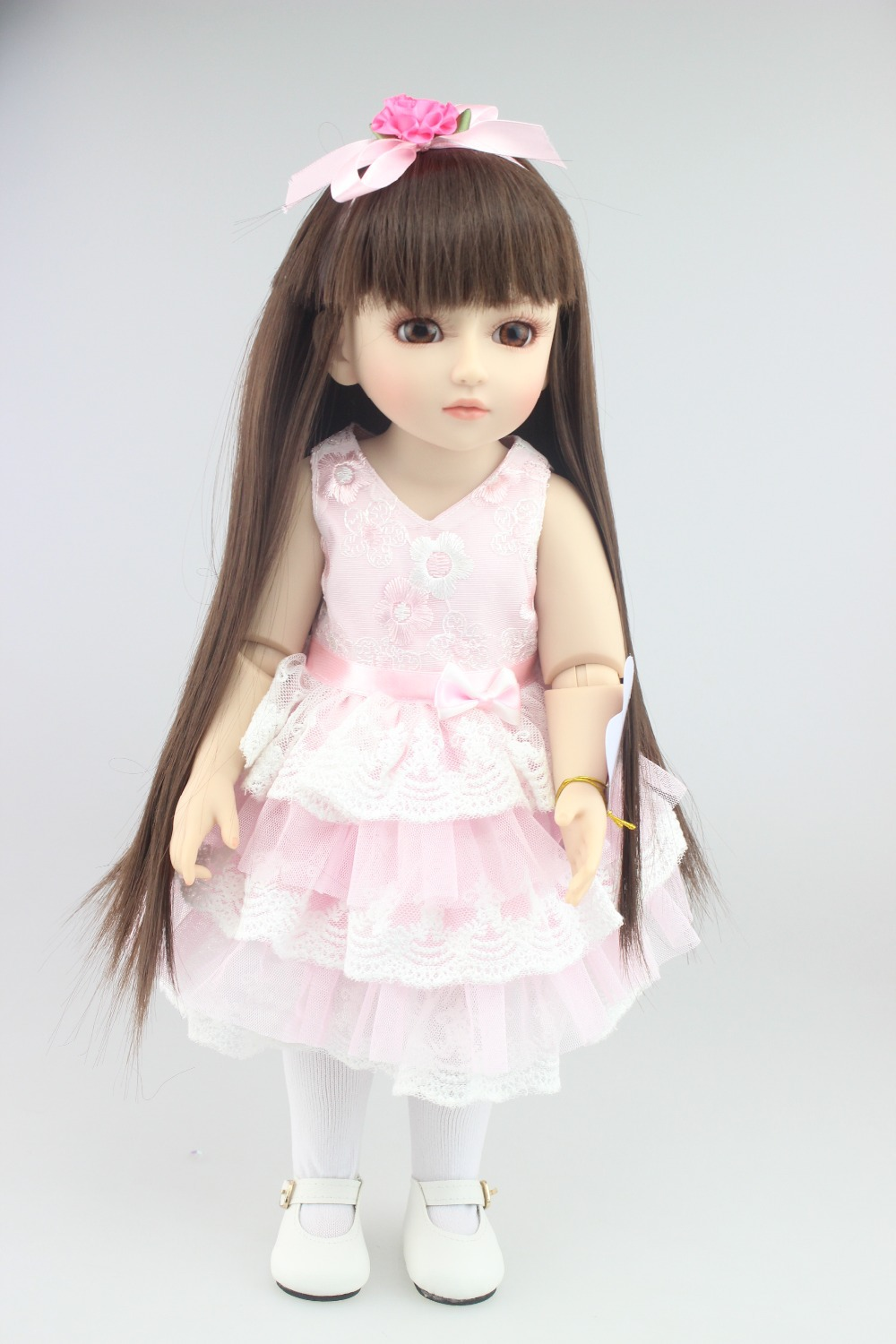 ФОТО NEW Design Beautiful SD/BJD doll 18inch top quality handmade doll poseable with joints