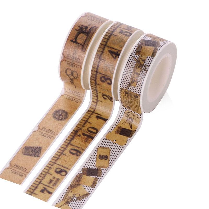 Vintage Ruler Washi Tape Ticket Masking Tape Stickers Scrapbooking