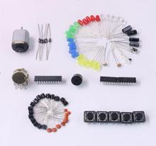 Electronics Fans Package Starter Kit for Arduino with Retail Box  DIY Kit LED Capacitor 74HC595N 1N4001 BC547 Free Shipping