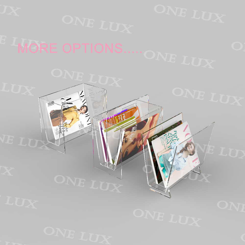ONE LUX Home Use Magazine Newspaper Storage Rack , Acrylic Office  Accessories U0026 Organizer,Perspex Book Pocket In Home Office Storage From  Home U0026 Garden On ...