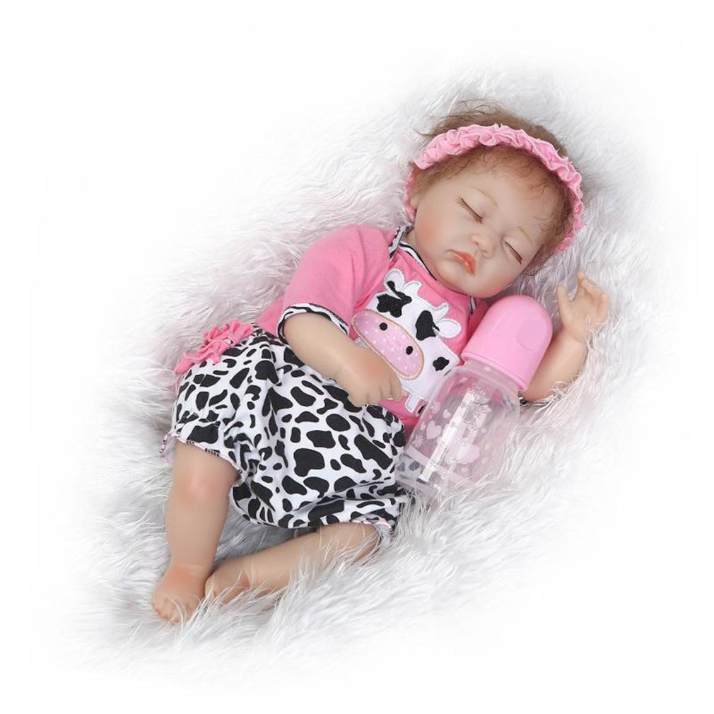 Hot! OCADY 40cm Lifelike Reborn Baby Doll Toys Cloth Body Soft Silicone Vinyl Baby Doll Newborn Kids Playmate Gift Alive Toys free shipping 18 inches sleeping reborn baby doll handmade soft silicone vinyl baby alive doll lifelike hot toys 100