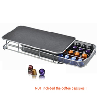 4 Rows Home Base Drawer Storage Coffee Pod Appliance Parts Holder Coffee Capsules Organizer For 40pcs Capsules