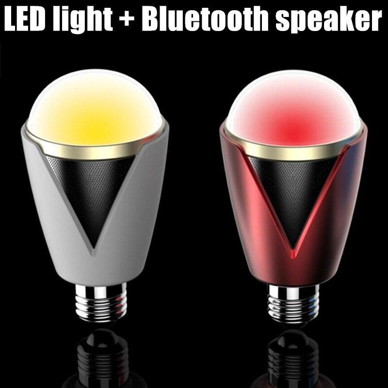 RGBW réglable AC110v 220 v 230 v 240 v Bluetooth intelligent haut-parleur LED ampoule lumière E27 audio sans fil lecteur de musique lampe à LED