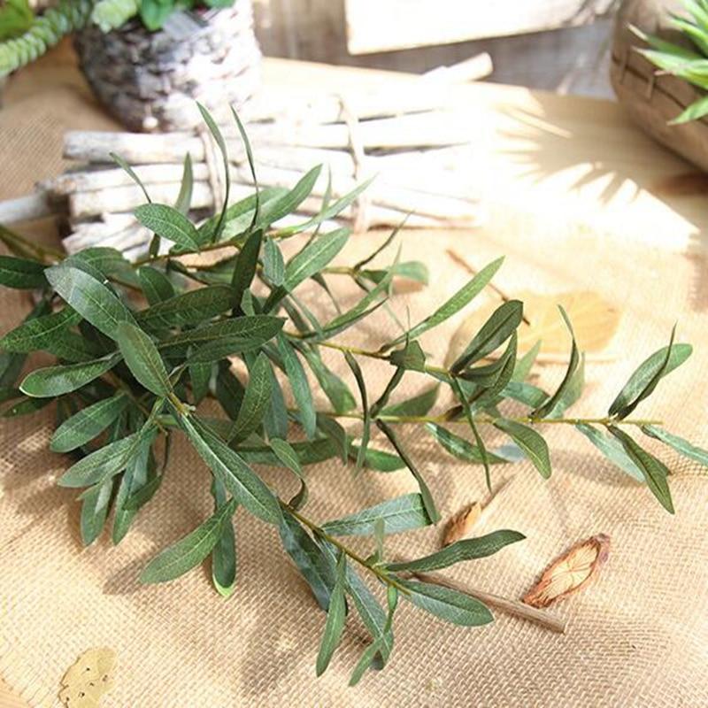 20 шт. 103 см европейские листья оливы для отеля и свадьбы искусственные растения оливковое дерево ветви лист украшения дома аксессуары - 4