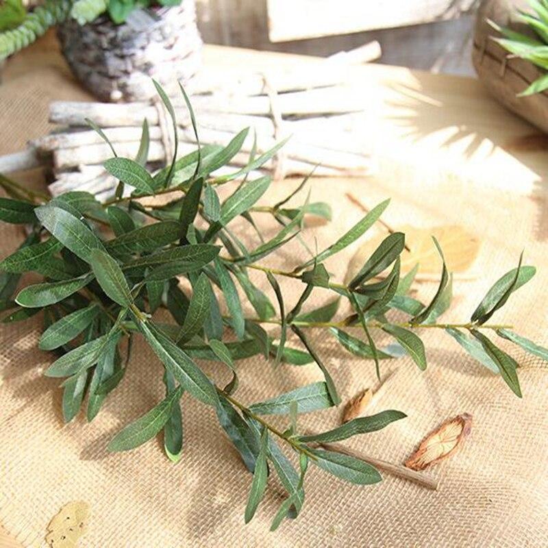 20 Pcs 103 cm Europäischen Olive Blätter für Hotel und Hochzeit Künstliche Pflanzen Olive Äste Blatt Dekoration Zubehör - 4