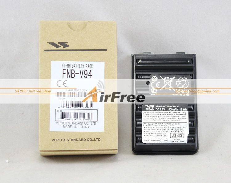 imágenes para 1 UNID FNB-V94 NI-MH batería 1800 mAh Capacidad REAL para YAESU Vertex VX-160 VX-168 VX-210 VX-218 VX-400 VX-418 FT-60R