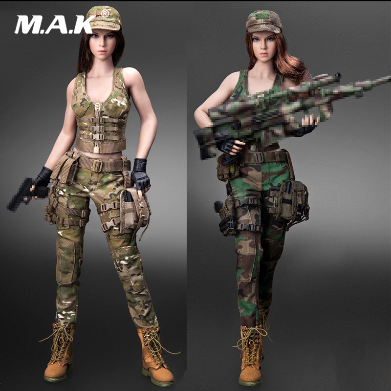 CT014 hot girl 1/6 Scale Sexy Female sniper Combat suit Military Character set head and clothing for seamless body toy gift