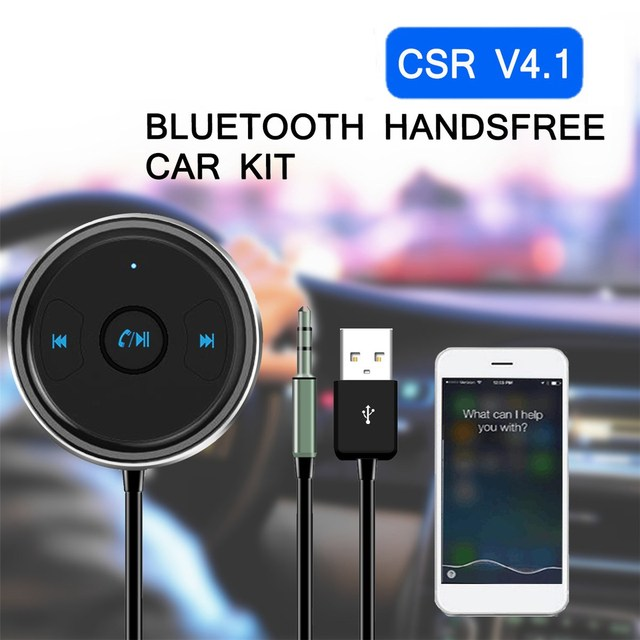 Car bluetooth audio receiver 3.5mm AUX USB MP3 Audio Player wireless connect...